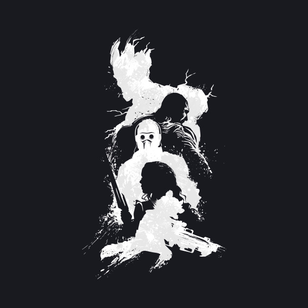 Abstract Guardians (white print)