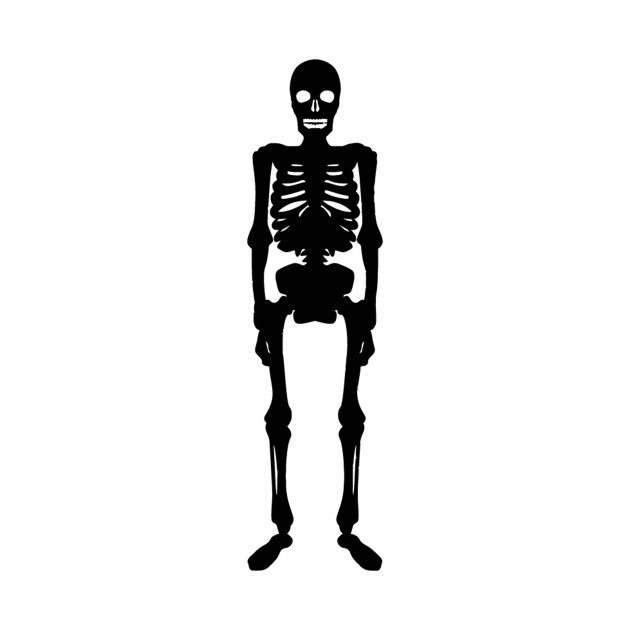 Standing Skeleton Silhouette