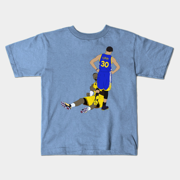 quality design c0256 8c161 Steph Curry Standing Over LeBron