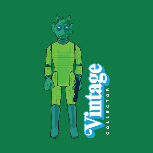 VINTAGE COLLECTOR - GREEN CANTINA PATRON ACTION FIGURE