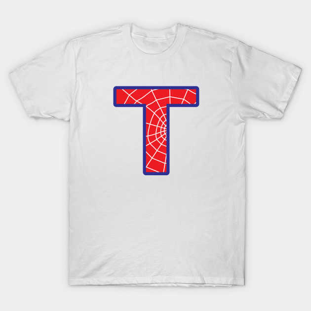 Spiderman letter T   Letter   T Shirt | TeePublic