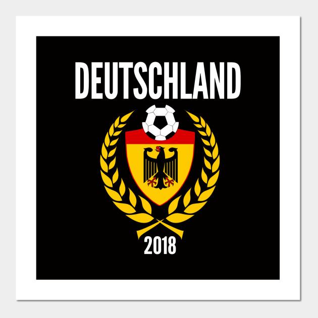 Germany Soccer Jersey World Emblem 2018 Football Cup Fussball Design for Deutschland  Soccer and Mannschaft fans. Posters and Art Prints 16ebc531d