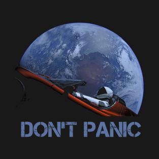 Starman Earth Don't Panic t-shirts