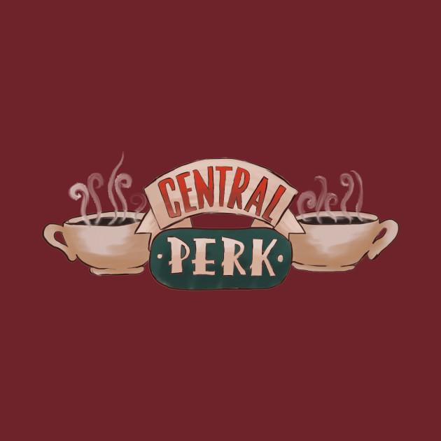 Friends Central Perk Logo - Friends Tv - T-Shirt   TeePublic