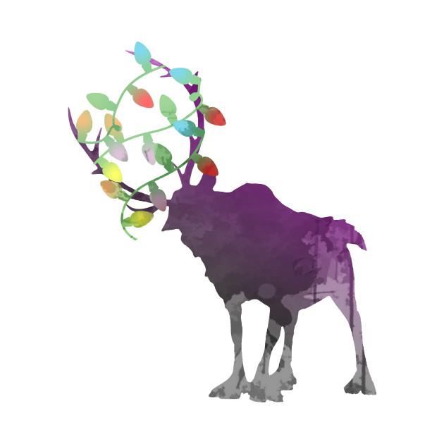 Christmas Reindeer Silhouette.Christmas Reindeer Inspired Silhouette