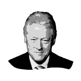 Bill Clinton Gryscale Pop Art t-shirts