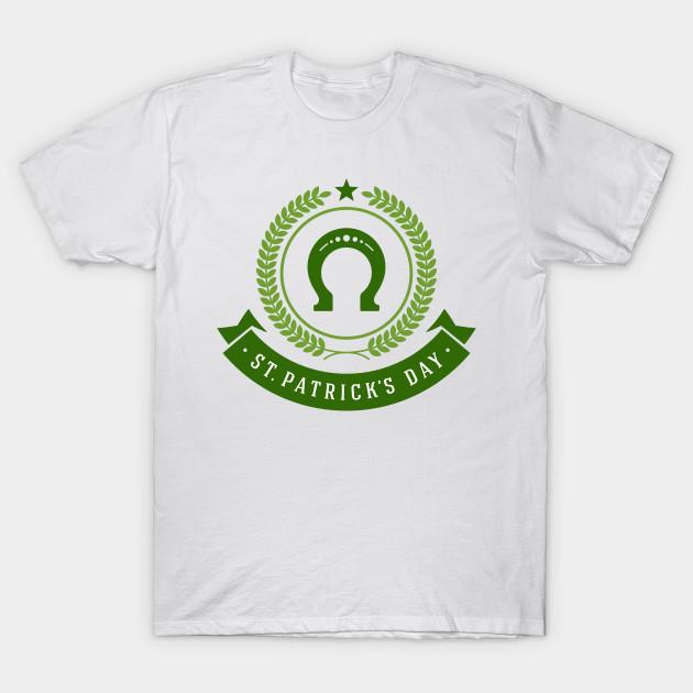 St Patrick S Day Horseshoe Horseshoe T Shirt Teepublic