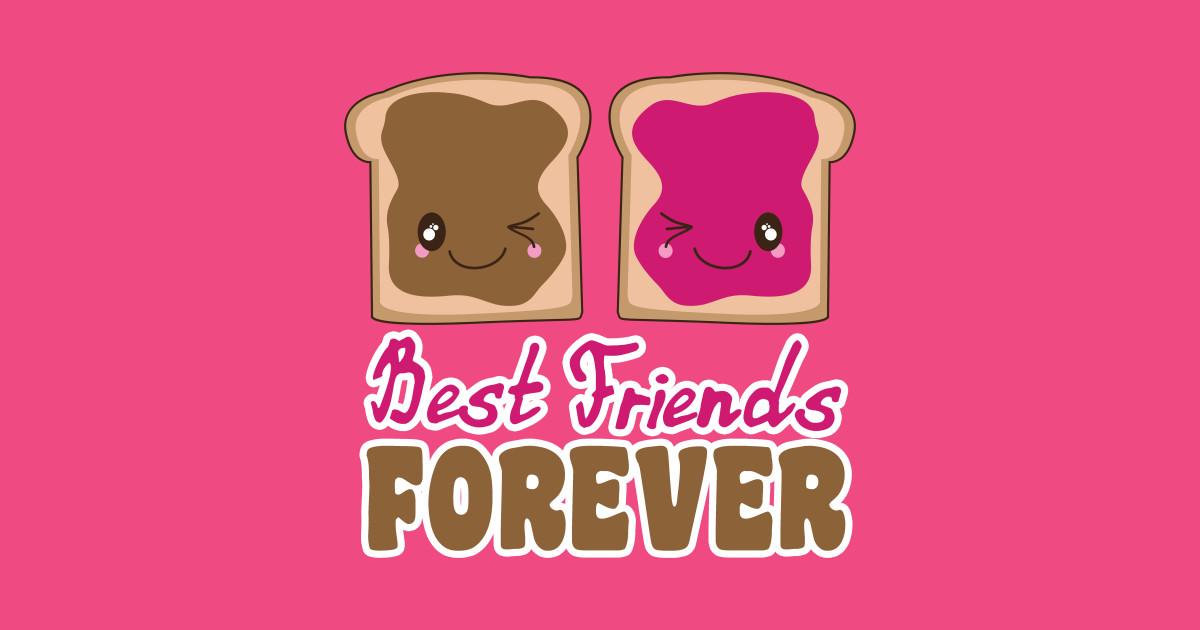 Cute Peanut Butter Jelly BFF Best Friends Forever Kawaii
