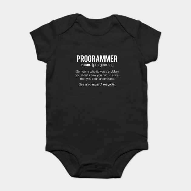 bffbb69d Funny Programmer Meaning Design - Programmer Noun Defintion Onesie