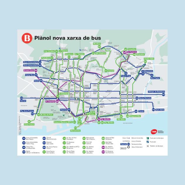 Barcelona - Bus Map - Spain - HD