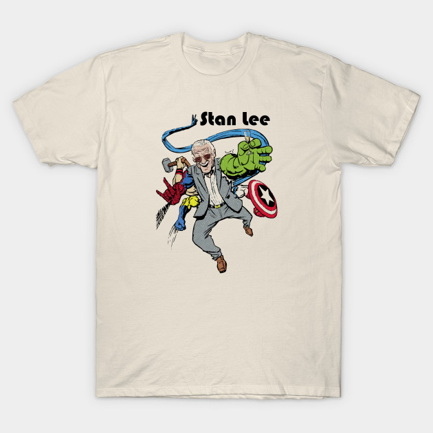 c4665454 Stan Lee - Man Of Many Faces - Stan Lee - T-Shirt | TeePublic