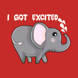 Excited Elephant t-shirts