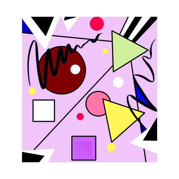 Abstract Art Geometric Shapes Graphic Design Tshirt