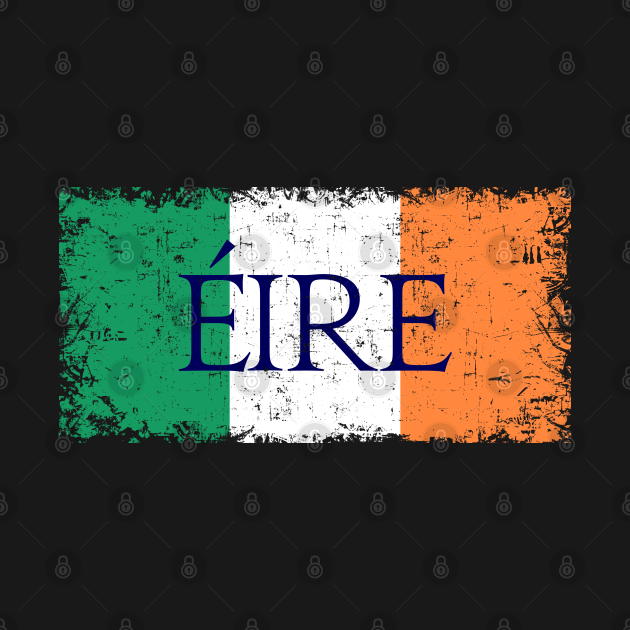 Éire Ireland emblem, logo, flag, symbol, seal Retro Vintage merch