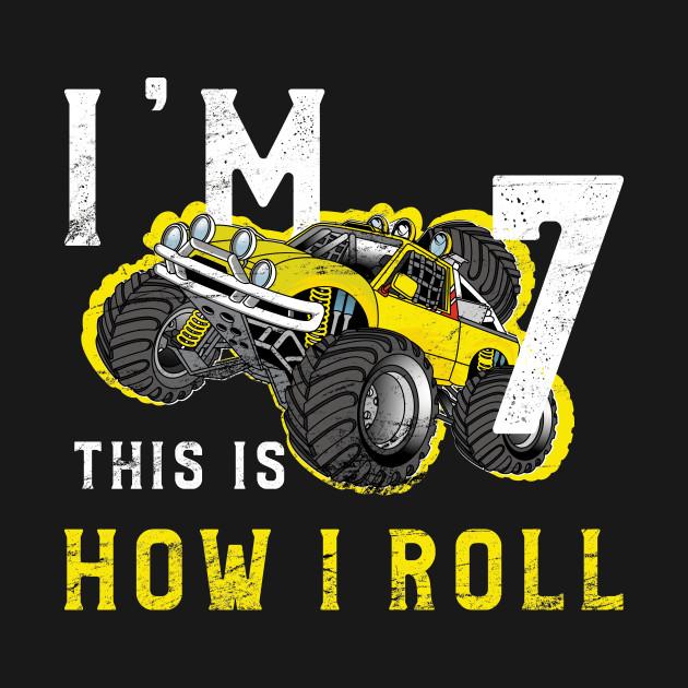 Monster Truck Birthday Shirt Im 7 Years Old TShirt