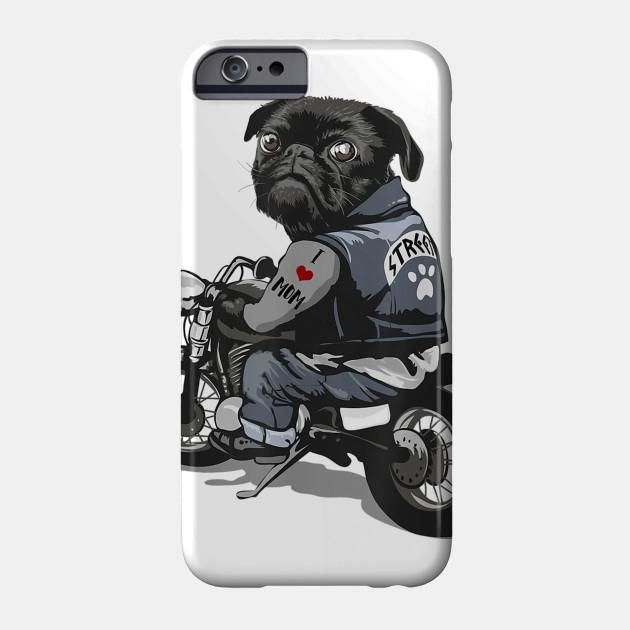 Tattooed Dog - Pug iphone 11 case