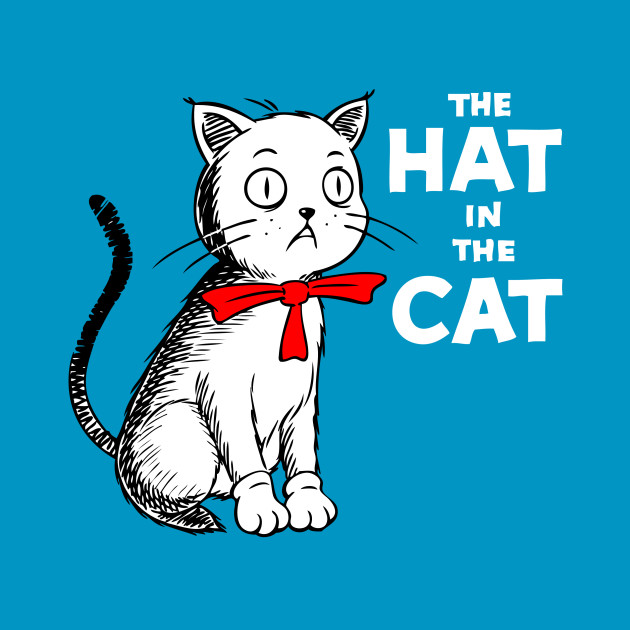The hat in the cat