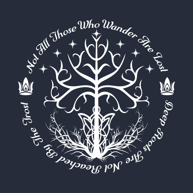 White Tree Of Hope Lord Of The Rings T Shirt Teepublic