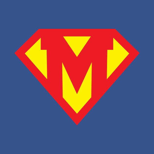 Letter M Superhero Symbol Superhero Onesie Teepublic