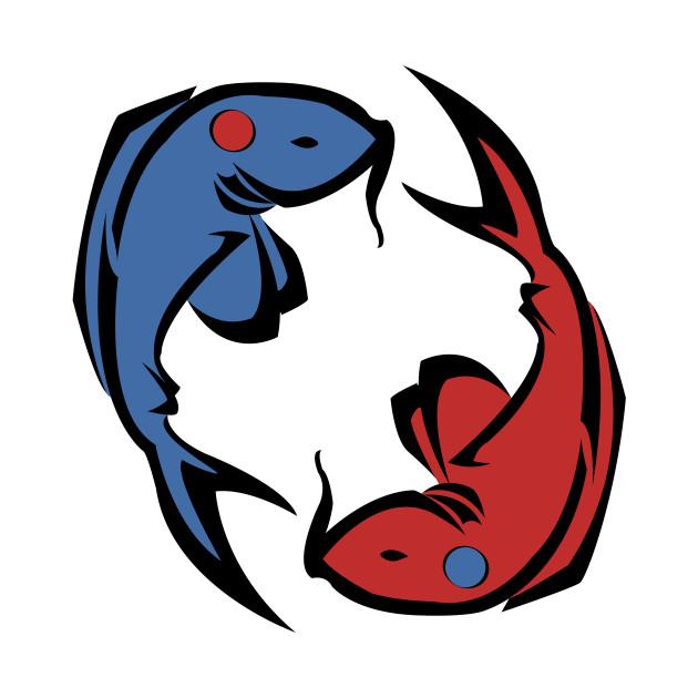 T shirts yin yang fish teepublic for Yin yang fish