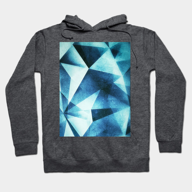 Abstract geometric triangle pattern ( Carol Cubism Style) in ice silver - gray