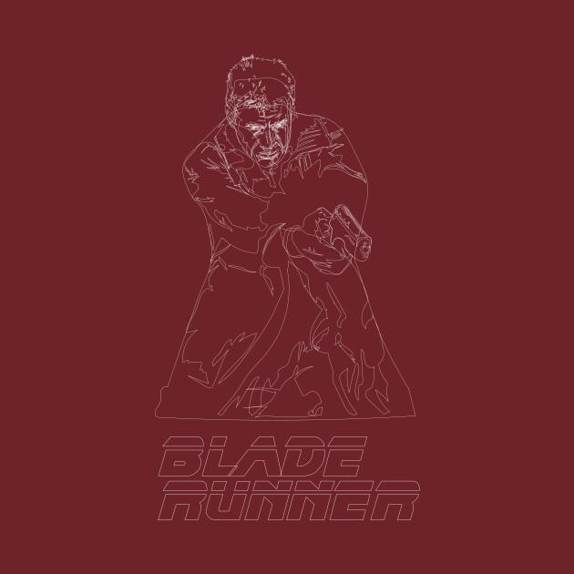 Blade Runner Line Art