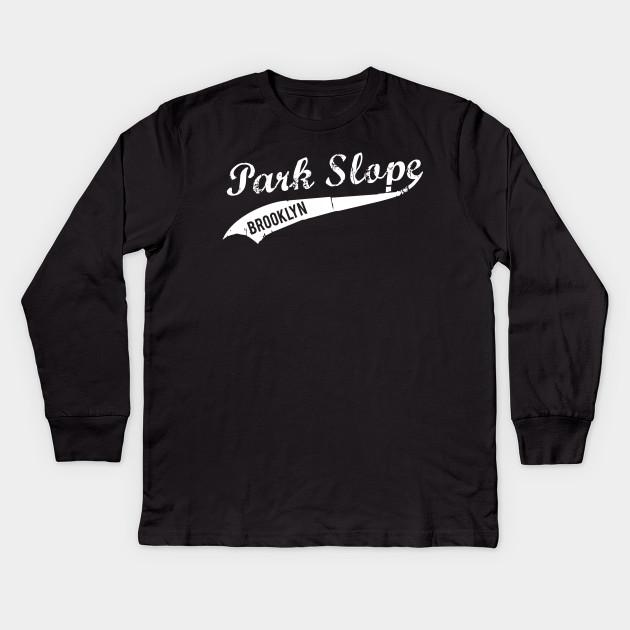 Park Slope Brooklyn Retro Vintage Look Design Kids Long Sleeve T-Shirt 73e10663718