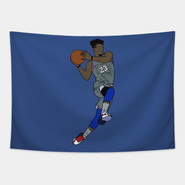 b6cf6b97852 Jimmy Butler City Jersey - Jimmy Butler - Tapestry | TeePublic