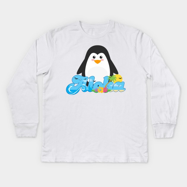 3166d99a Aloha Penguin Animal Gift Cute Kids Hawaiian - Vintage Aloha Kids ...