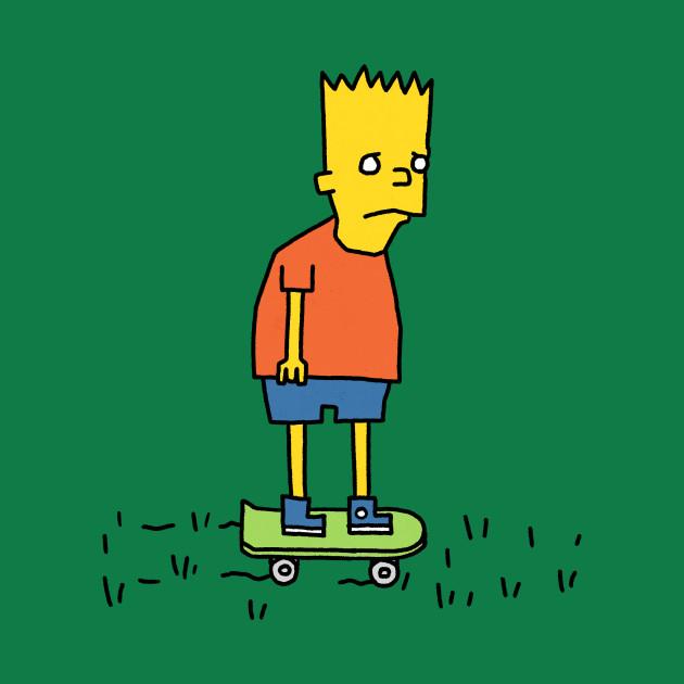 Sad Bart In A Field - Simpsons - T-Shirt