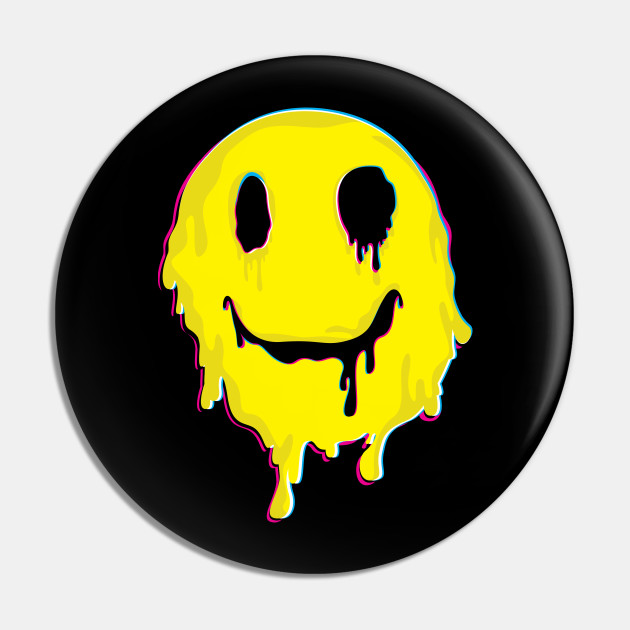 Happy Melted Smiley Face print | Psychedelic LSD Funny Trip product
