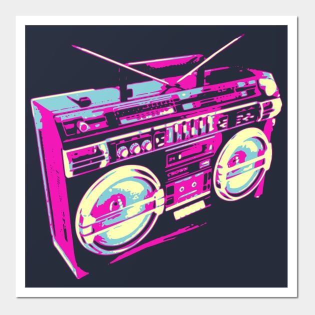 Boombox Pop Art 80s Boombox Pop Art - ...
