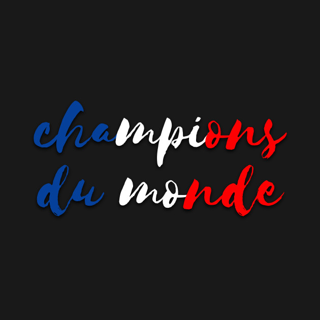 Champions Du Monde France 2018 World Cup By Lemonbox