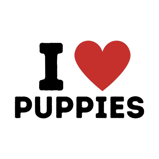 I Love Puppies Simple Heart Design