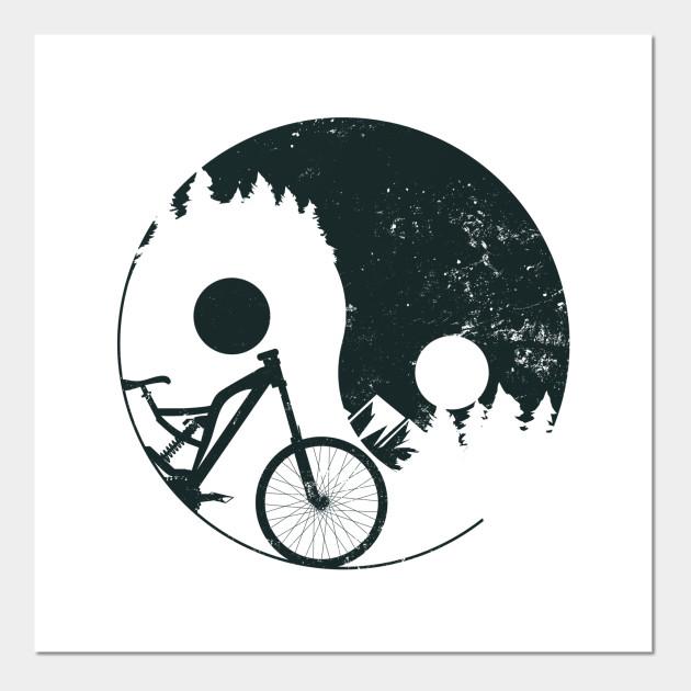 Mountain Bike Shirt | Ying Yang Symbol