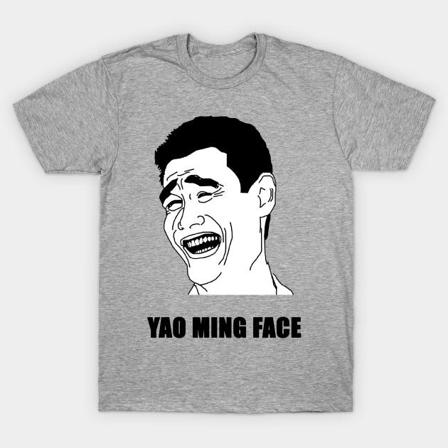 yao ming face yao ming face t shirt teepublic