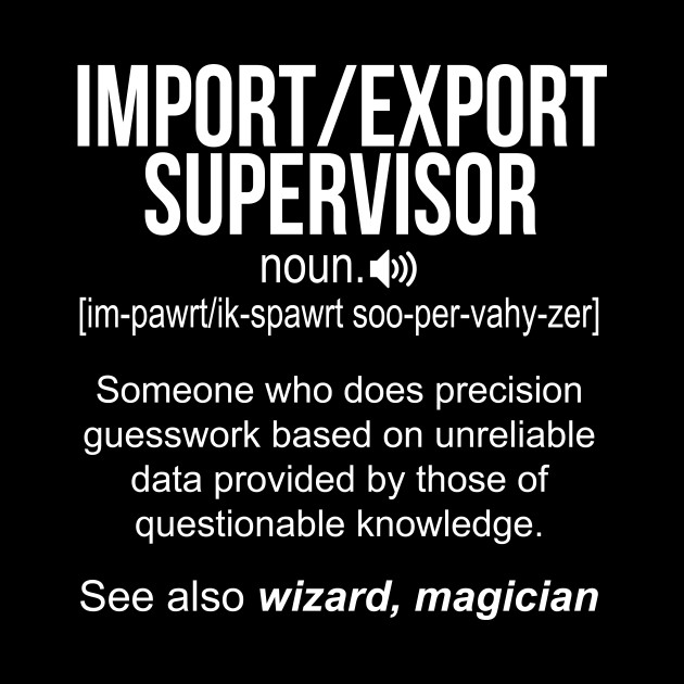 Import-Export Supervisor noun definition funny shirt T-Shirt