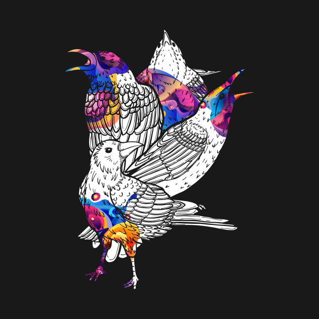 Colorful Birds Raven