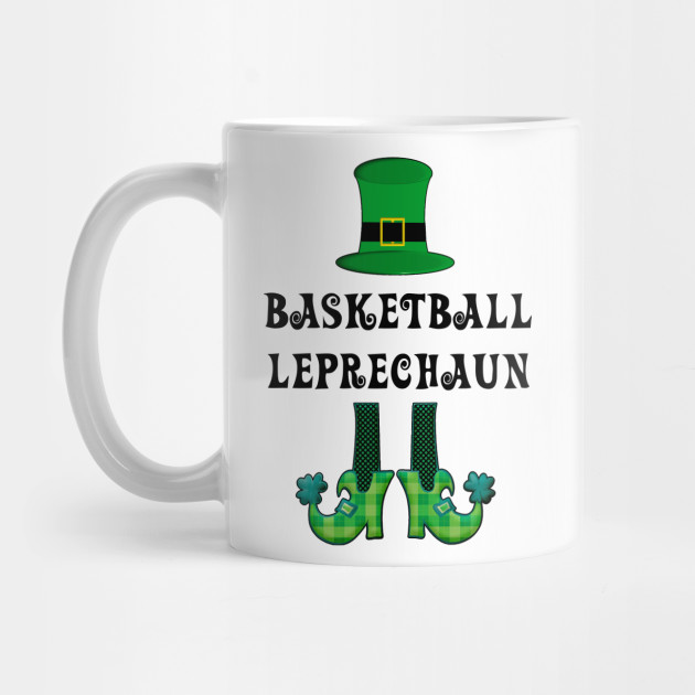 St Patrick's St Paddy's St Patty's Day Basketball Leprechaun Mug