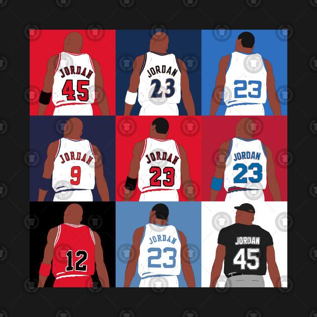 81053ce4633b22 Michael Jordan Grid - Michael Jordan - T-Shirt
