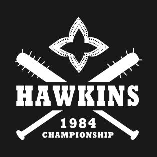 Hawkins Championship 1984 t-shirts