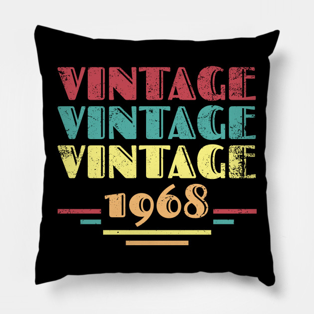1968 Vintage 50th Birthday Gift Pillow