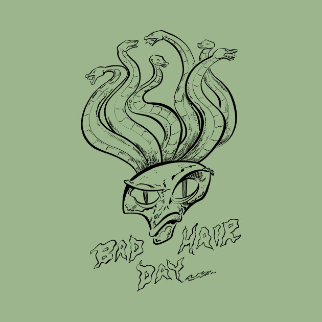 Bad Hair Day- Black and White Design