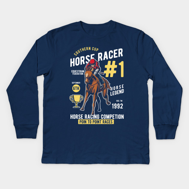 Southern Cup Horse Racer Kids T-Shirt