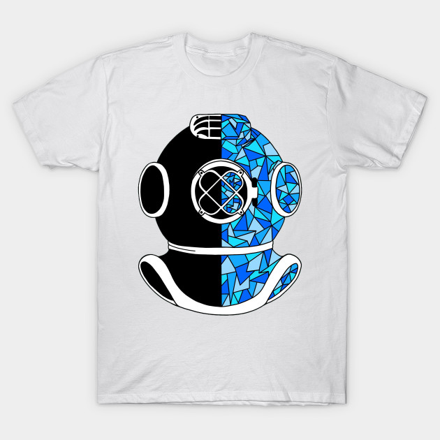 Under The Sea Navy Diver Adult /& Kids T-Shirt Diving Deep Sea
