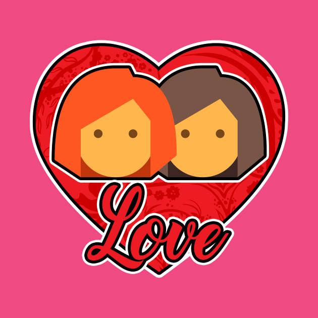 valentines day lesbian couple - lesbian - t-shirt | teepublic, Ideas