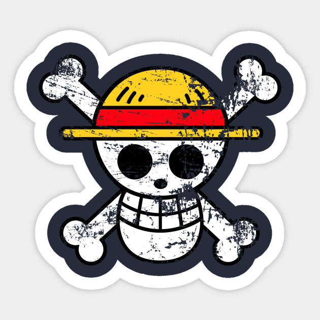 Straw Hat Jolly Roger Strawhat Sticker Teepublic