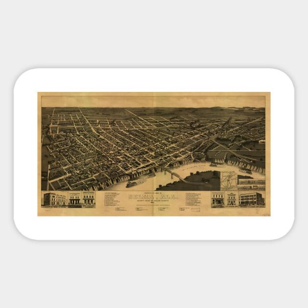 Vintage Pictorial Map of Selma Alabama (1887)