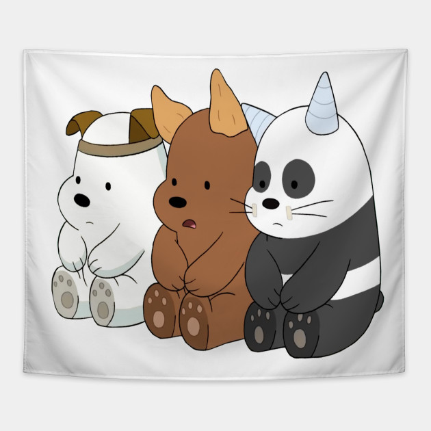Baby Bears Cute We Bare Bears Tapestry Teepublic
