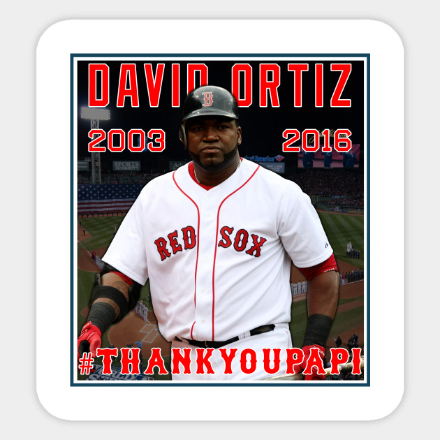 7f1953fdaa3 Red Sox  THANKYOUPAPI 34 - David Ortiz - Redsox - Sticker